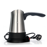 Electric Turkish Coffee Maker Stainless steel portable Coffee Pot Handle Foldable 4 cups