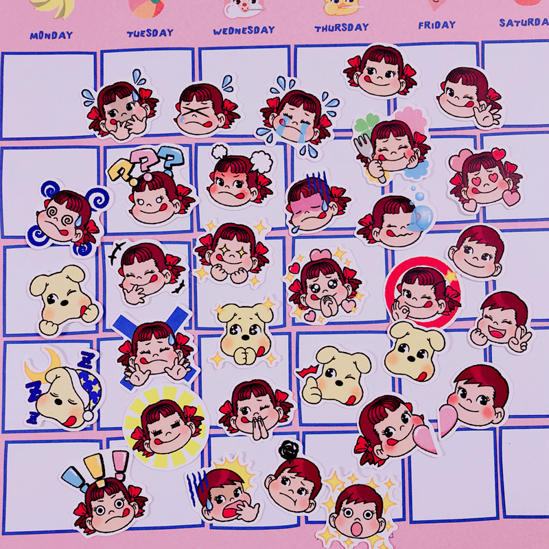Купить с кэшбэком 32Pcs/Pack Q Version Child Stickers Cute Hand Account Sticker For Luggage Laptop Phone Notebook Pegatinas Sticker For Gift