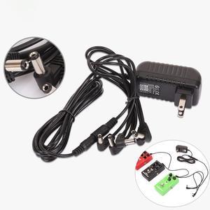 Гитарный педаль с эффектом электропитания, 5 способов, 9 В, электрогитара, Цепной жгут, кабель, гитарра, педаль, блок питания, сплиттер