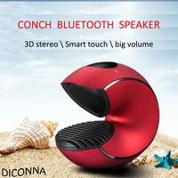 Conch USB 3D Stereo Bluetooth Waterproof Smart touch Super Radio Speaker volume