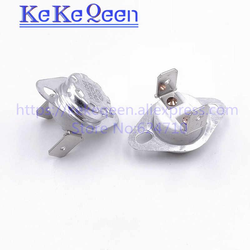 KSD301 250 V 10A/16A 40 45 50 55 60 65 70 75 80 85 90 95 ~ 130 celsius Graden 90 hoek voeten Normaal Close Thermische Schakelaar
