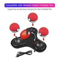 3 in 1 Charge Dock w/Card Slot Compatible with Nintend Switch PokeBall Plus