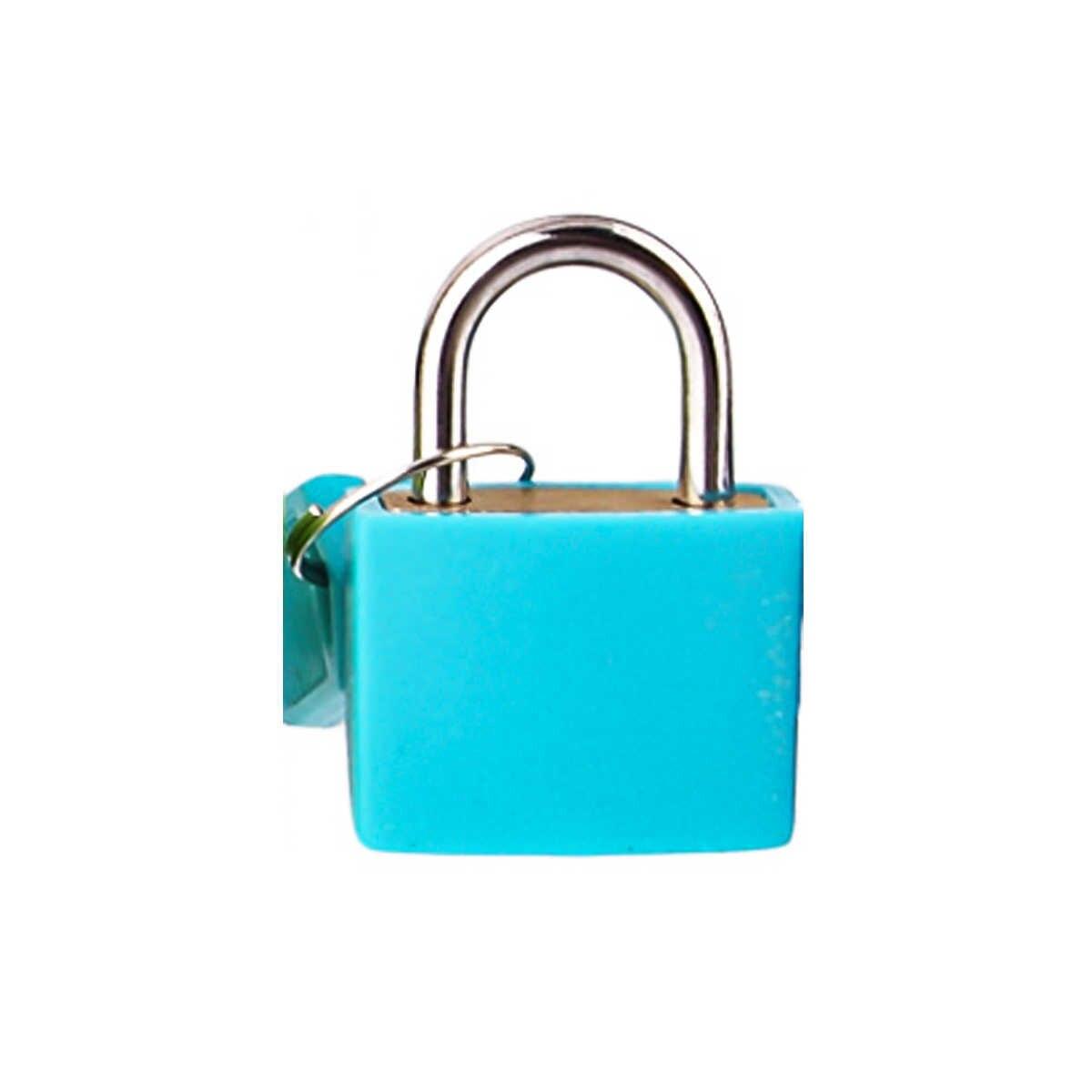 1 قطعة 32*23 مللي متر 8 ألوان مصغرة صغيرة قفل سفر حقيبة الأمتعة حقيبة قفل الأقفال مع 2 مفاتيح أفضل سعر