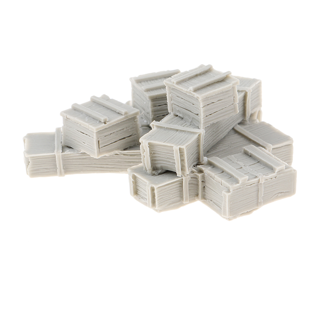 1/35 Scale WWII Army Cargo Equipment Crates(8) Mini Resin Figure Unpainted