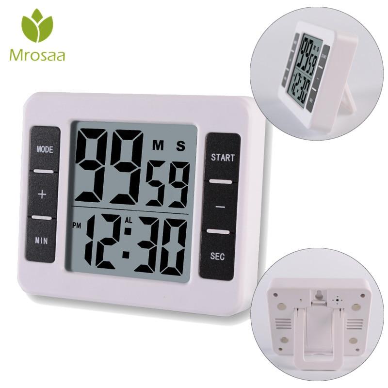 Eléctrica Digital temporizador de cocina multifuncional de cocina para hornear herramienta respaldo magnético con gran pantalla LCD reloj