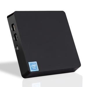 Новейший T11 Мини ПК Intel X5 Z8350 1,92 ГГц 4 Гб + 64 ГБ Wnidows 10 Лицензионная Поддержка 2,5 дюйма HDD, VGA и HDMI Двойной выход, ТВ-приставка WIN10