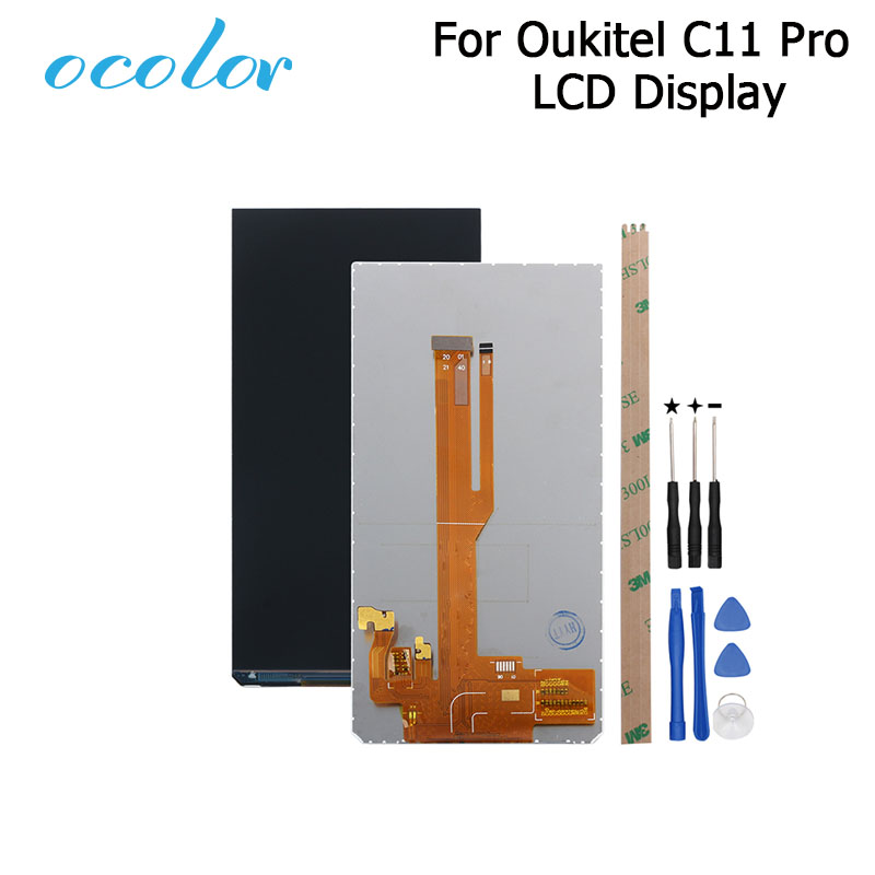 ocolor For Oukitel C11 Pro LCD Display Screen Perfect Repair Parts For Oukitel C11 Pro Mobilephone Digital Accessory With Tools