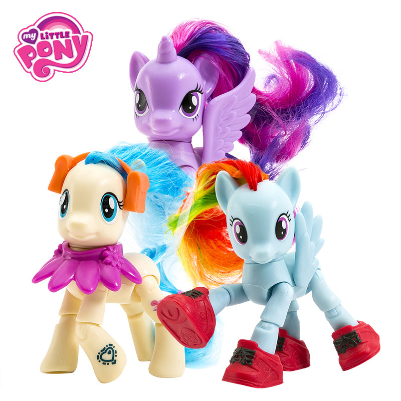 My Little Pony Toys Friendship Is Magic Twilight Sparkle  Pinkie Pie Rainbow Dash PVC Action Figures Model Dolls For Kids Gifts