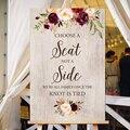 Выберите место  а не боковой знак  Выберите место  церемонию  знак  добро пожаловать  Свадебный знак  добро пожаловать  знаки для печати
