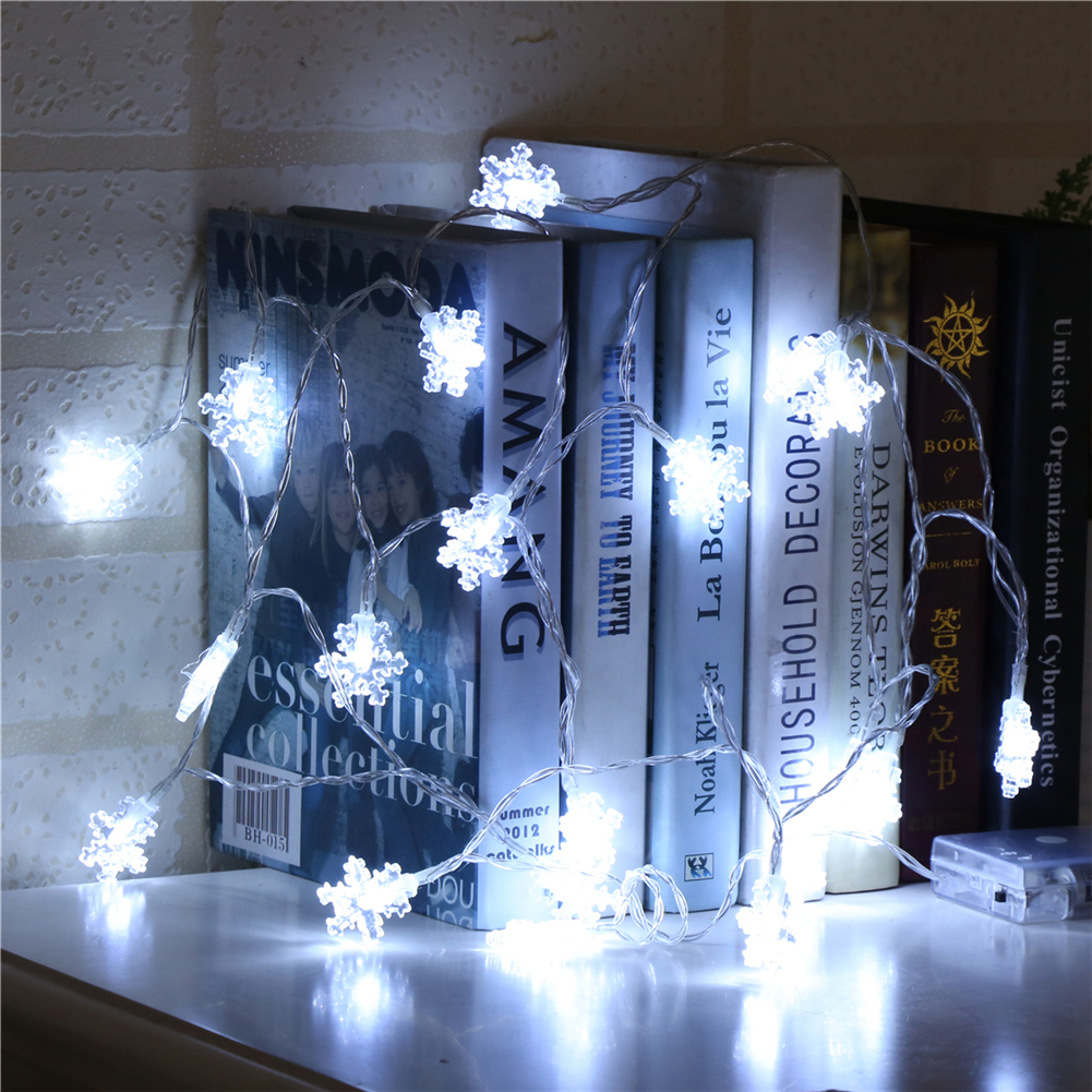 Fairy LightsSnowflake String Light 1.5M-10M,10L/20L/40L/96L,3AA/31V US/EU Room Weding Party Wall Window Home Decoration Children Night Lamp