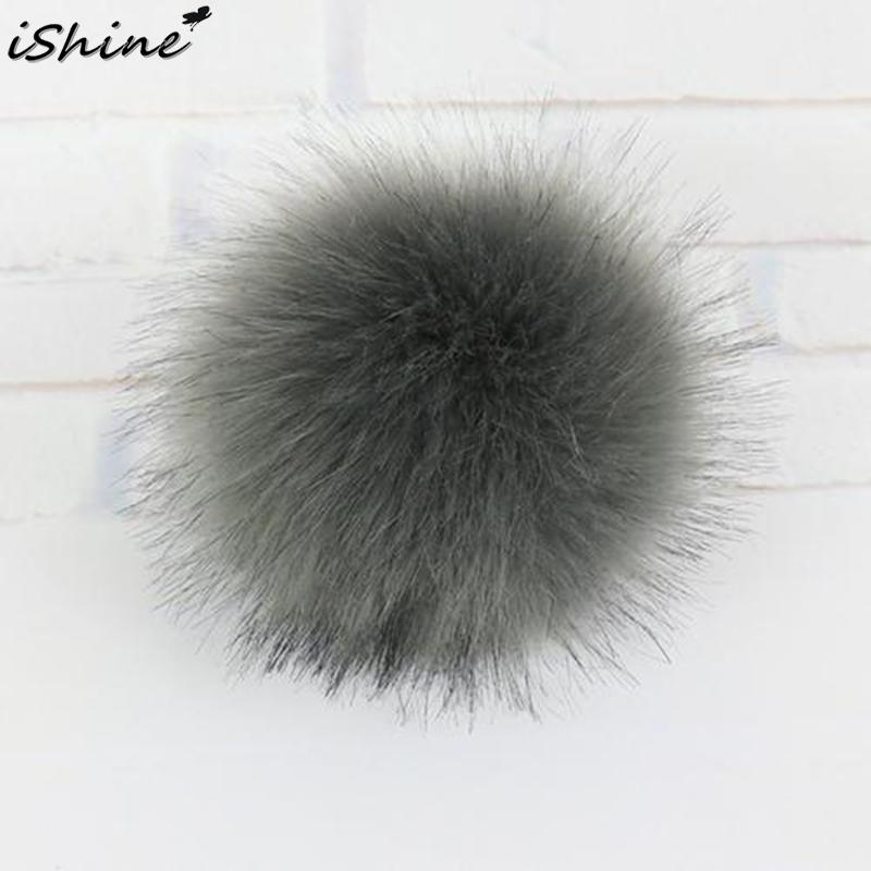 iSHINE 10cm/3.94 Inch Diameter Buckle Hat Gloves Ball Top Winter Hat Fur Cap Accessories Nine-color Invisible Buckle Hot Sale