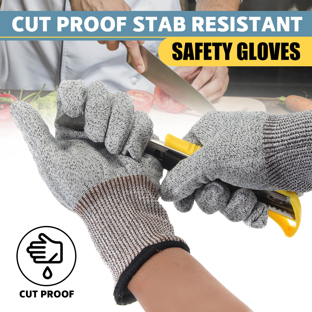Butcher-Gloves Wire Cut-Proof Safety Stab-Resistant Stainless-Steel Metal Mesh