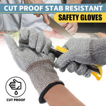 Efficient Level 5 Anti-cut Gloves Safety Cut Proof Stab Resistant Stainless Steel Wire Metal Butcher Cut-resistant Safety Hiking Gloves Hiking Clothings