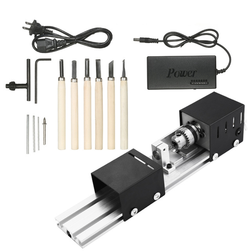 Eu Plug 100W Machine Mini Lathe Diy Woodworking Lathe Machine Grinding And Polishing Beads Polishing Drill Rotary Tool Wood WorkEu Plug 100W Machine Mini Lathe Diy Woodworking Lathe Machine Grinding And Polishing Beads Polishing Drill Rotary Tool Wood Work