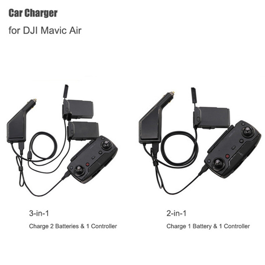 Mavic Air Car Charger Adapter For DJI Mavic AIR Remote Control & Battery Charging Hub USB Multi Battery Car Charger