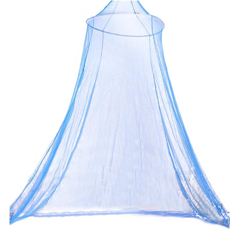 Double Bed Conical Curtains Bed Canopy Mosquito Net Fly Screen Netting Insect Malaria Zika Repellent (Blue) image