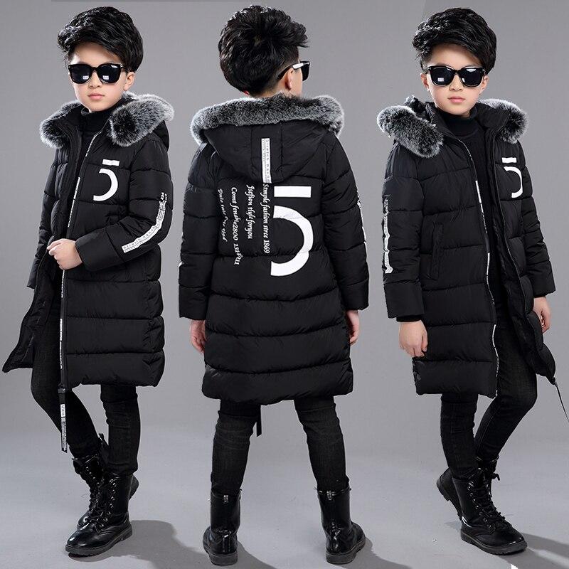 12 Kinderkleding 13 Jongens 14 Winter Kleding 15 Jas 2018 Nieuwe Dikke Katoen Verdikking 10 Jaar Oude Kinderen -30 Graden