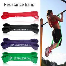 Yoga Pilates Exercise Loop Resistance Rubber Bands Fitness Stretch Rope Crossfit Band For Body Building Strength Training
