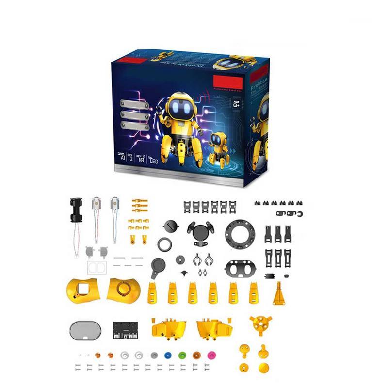 AI Intelligent Robot à monter soi-même enfants bricolage éducation modèle ensemble d'assemblage marche parler jouet Robot enfants interactif jeu Robot - 4