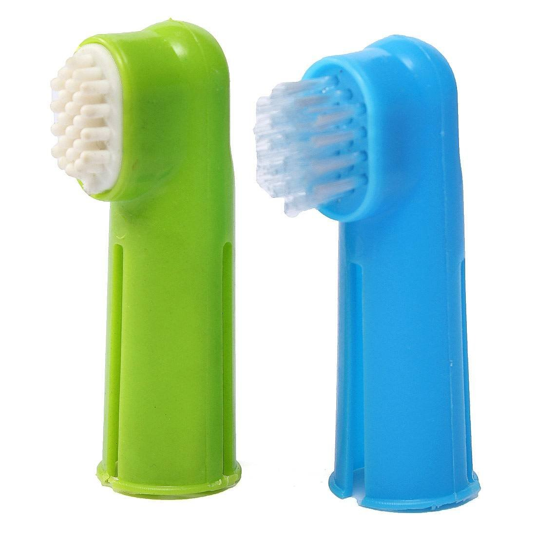 Oral Toothbrush Set + Massage Finger Brush Grooming Toothpaste for Dog Puppy image