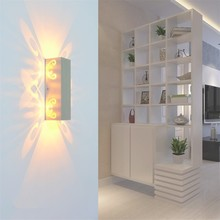 Indoor 6W led wall light Butterfly projection Aluminum sconce Bed room Surface mounted AC 85 to 265V Modern home decor lamp