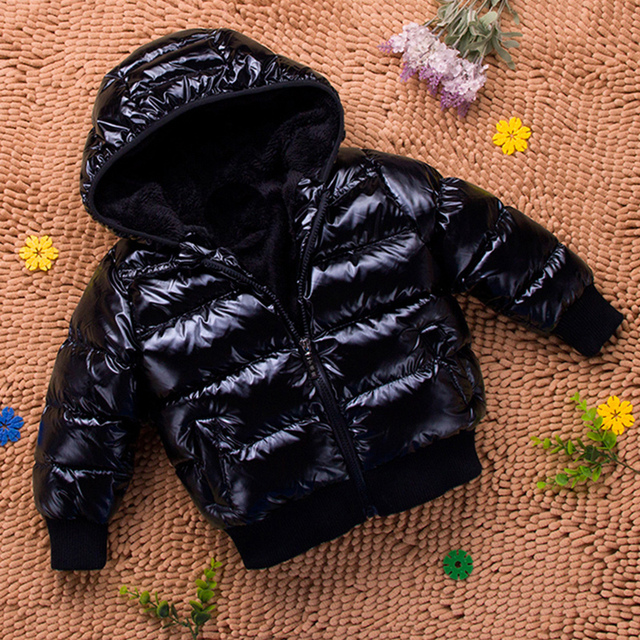 Flash Sale Baby child infant winter cotton-padded jacket thicken hooded solid coat boys girls unisex 100% Parkas coat short kids outerwear