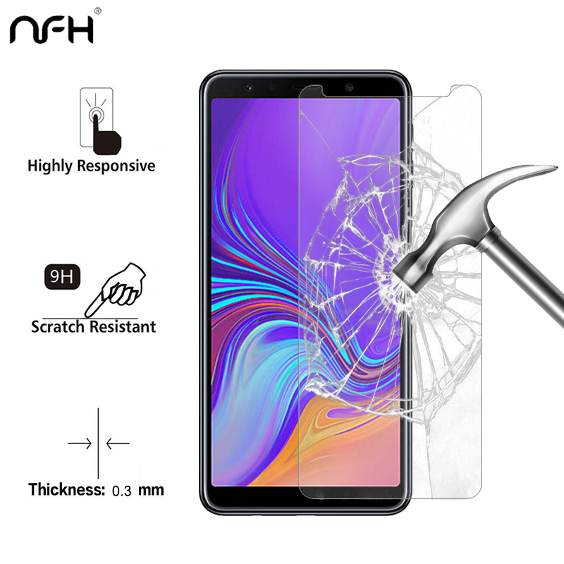 5PCS Tempered <font><b>Glass</b></font> For <font><b>Samsung</b></font> Galaxy A7 2018 Screen Protector For <font><b>Samsung</b></font> A7 2018 <font><b>A</b></font> <font><b>7</b></font> 2.5 D 9H Film On A7 2018 <font><b>Glass</b></font> A750F-DS image