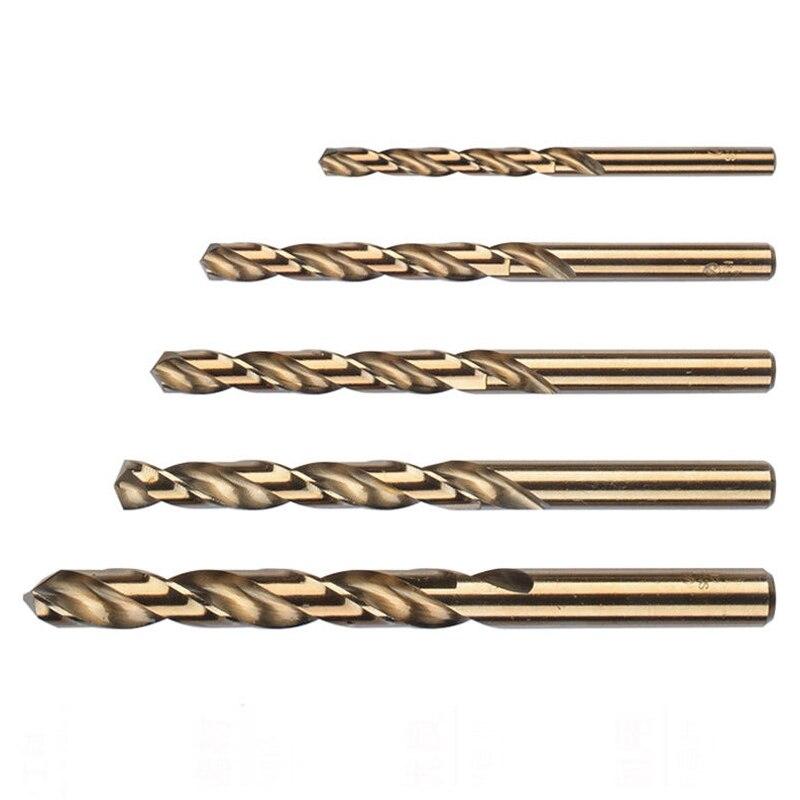 uxcell 20pcs 2.5mm Twist Drill w Titanium Coated High Speed Steel Bit HSS M35 CO for Steel,Copper,Aluminum Alloy