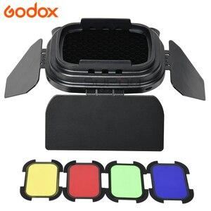 Image 4 - Godox S R1/AK R1/BD07/H200R/AD P/AD L/EC200 Flash blitzgerät Adapter Scheune Tür, snoot, Farbe Filter Reflektor FÜR AD200 PRO