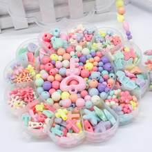 350pcs Kids Beads Sets Jewelry Making Accessories Girl Baby Mix Loom Bands Box Toy 15.5*15.5*2cm(China)