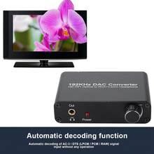 5.1 hd digital coaxial toslink conversor analógico óptico 192khz digital para 5,1ch analógico dac decodificador de áudio para ps3 para xbox 360