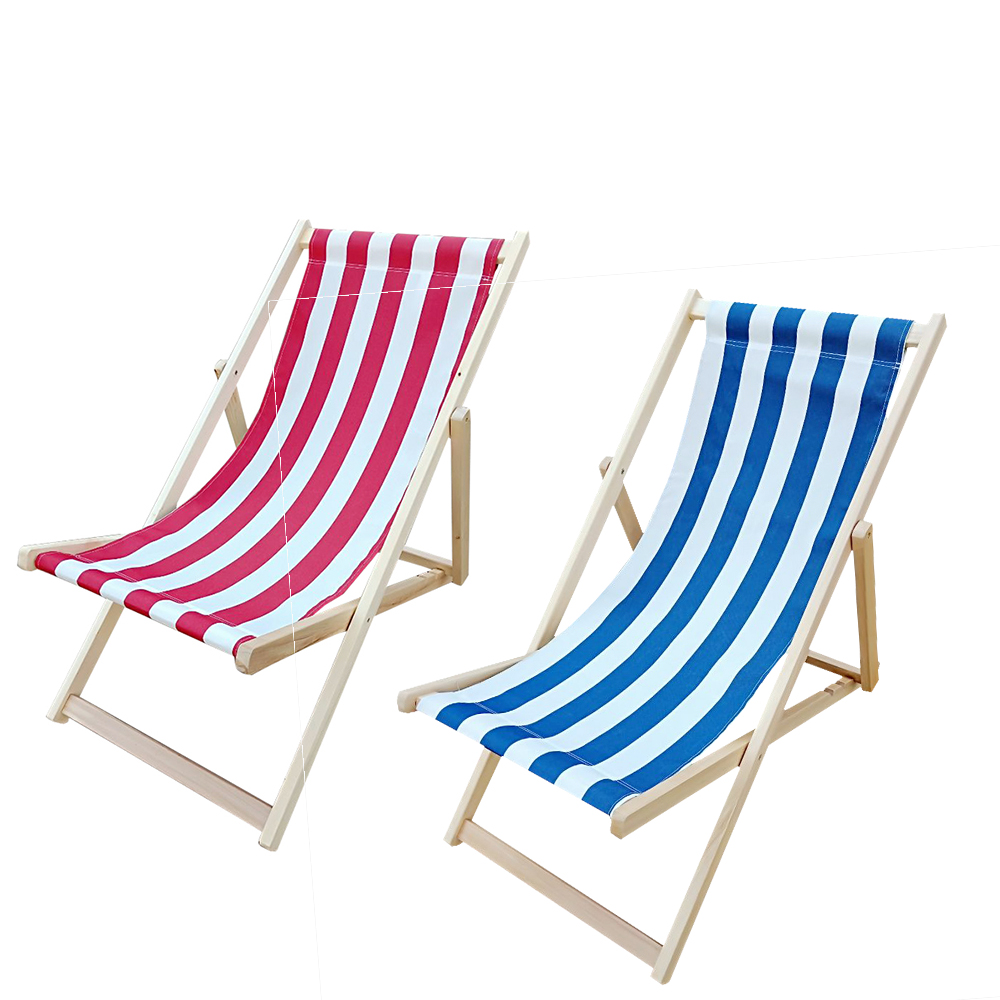 Panana Foldable Wooden Beach Deck Chair Garden Patio Lounger Poplar Wood Seating Outdoor Furnitures