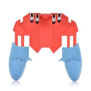 Image 2 - Or AK65 PUGB Helper Mobile Phone Handle Mobile Game Controller Six Finger All   In   One Mobile Controller Game Joystick Gamepad