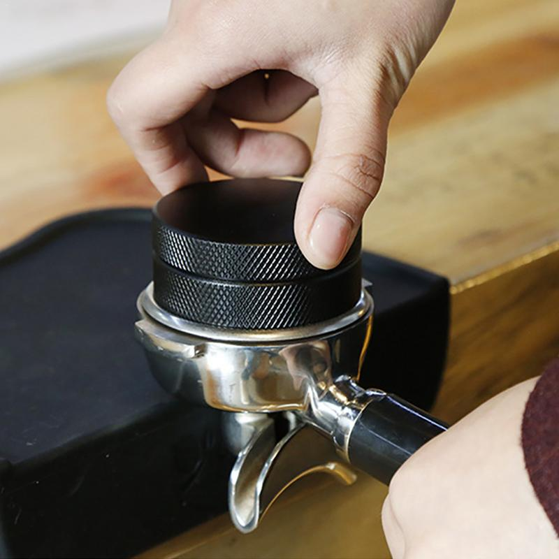 58mm/51mm Adjustable Height with Stainless Steel Cloth Coffee Tamper Distributor Espresso