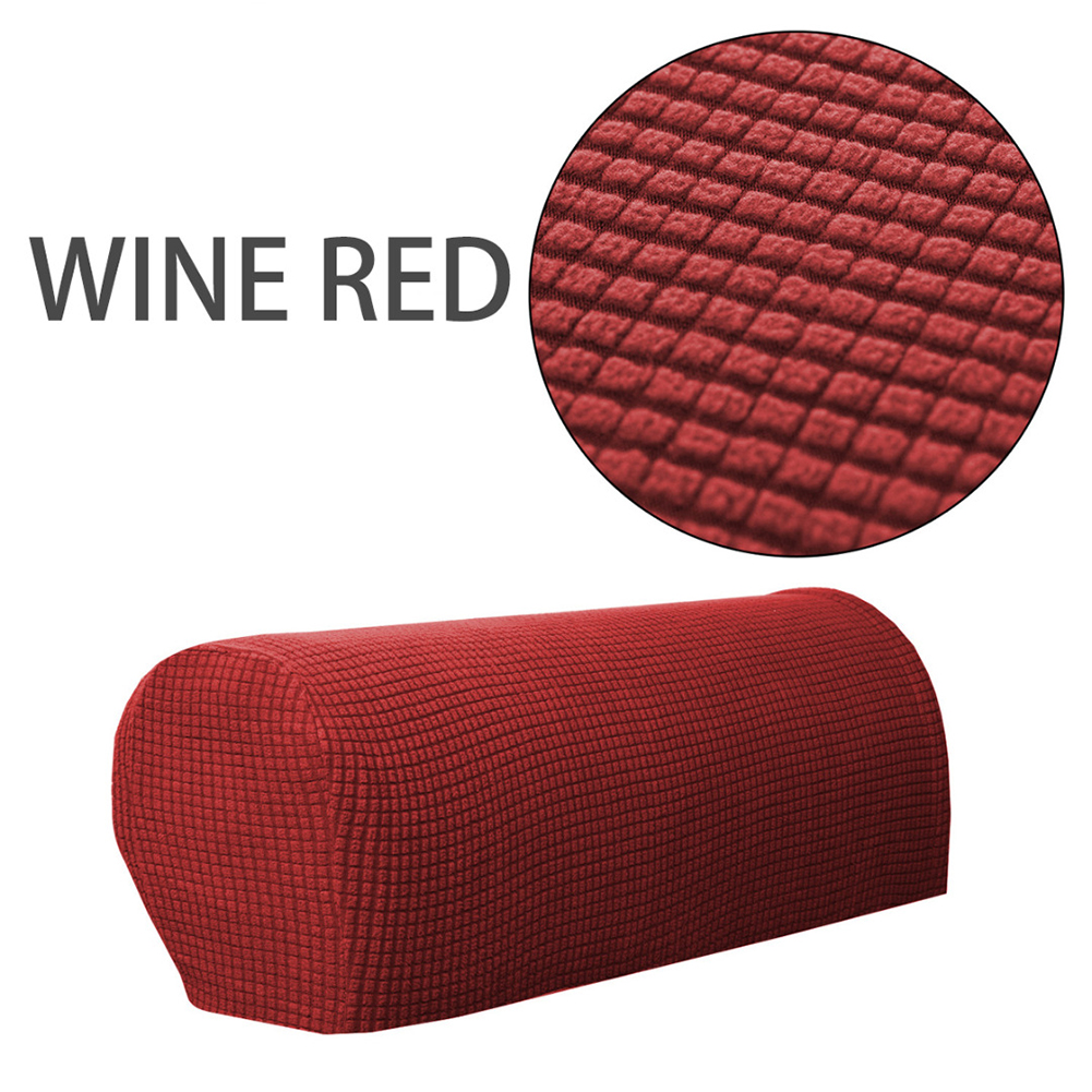 2Pcs Furniture Sofa Armrest Cover Couch Chair Arm Case Mat Removable Protector Dust proof Furniture Tools Durable Armrest Covers in Sofa Cover from Home Garden