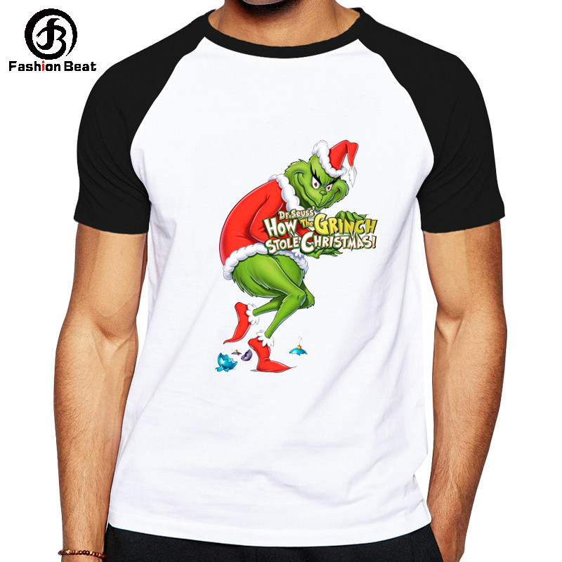 Grinch T Shirt Grinch Stole Christmas T-shirt Green Hair Monster Tshirt Print Graphic Top Men Women Tee Fashion Hombre Camiseta