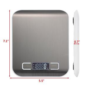 Image 2 - Báscula Digital táctil profesional para cocina, herramientas de medición de básculas electrónicas para alimentos, pantalla LCD y plataforma de acero inoxidable
