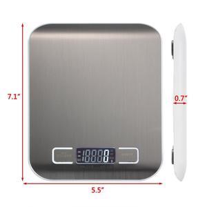 Image 2 - Professionelle Touch Digital Küche Skala Elektronische Lebensmittel Waagen Werkzeuge/LCD Display & Edelstahl Plattform