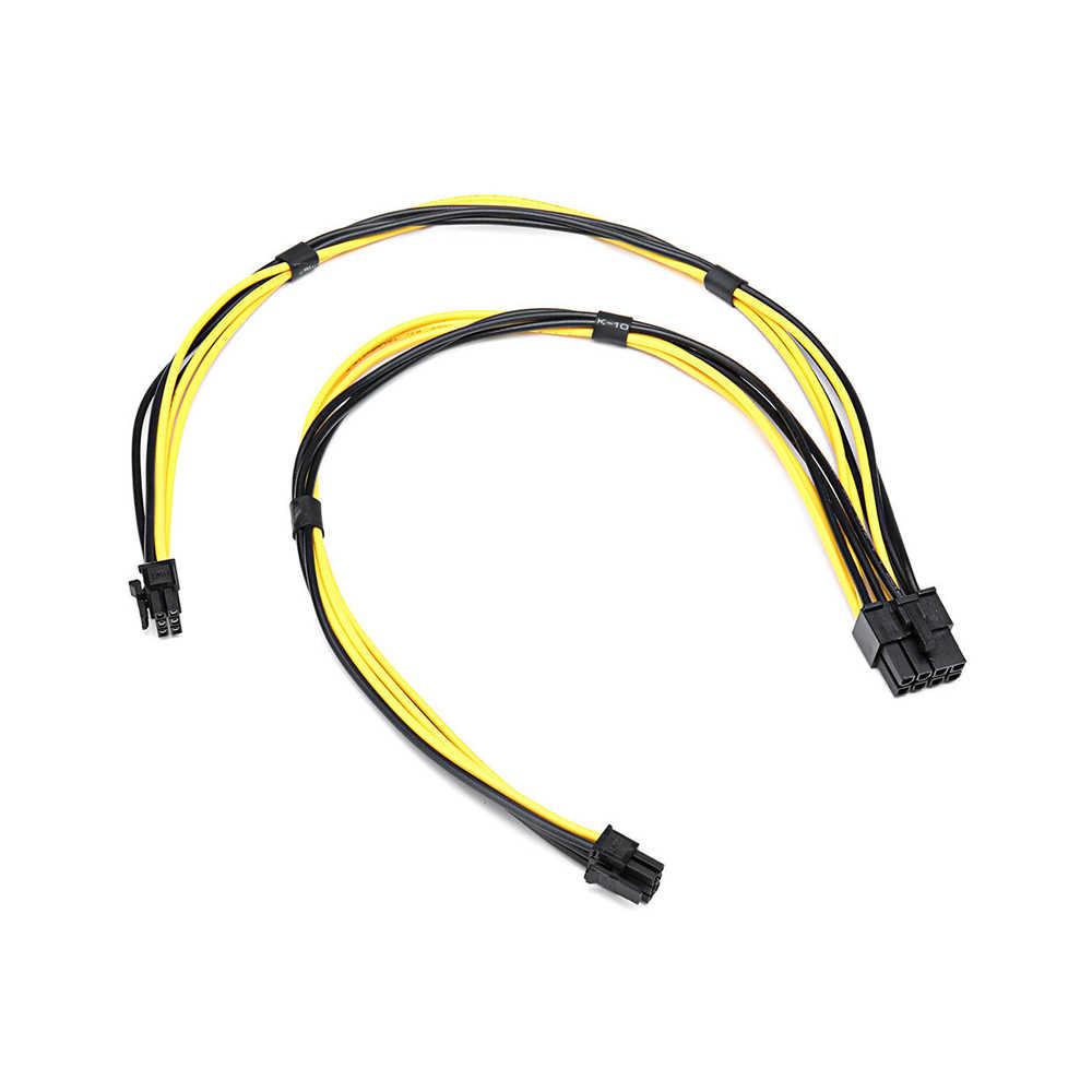 18AWG כפולה מיני 8 פין כדי 6 פין זכר PCI-E כוח כבל עבור כרטיס מסך כבל באיכות גבוהה 2019