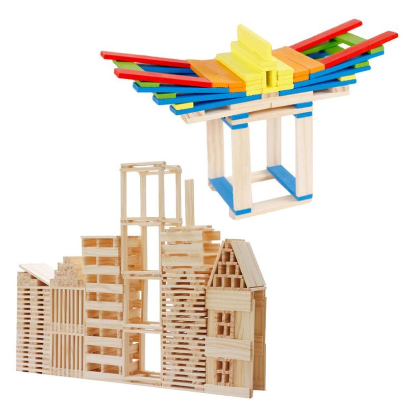 Children Building Construction Toys Kids Natural Wooden Building Blocks Early Development Creative Toy For Kids Birthday Gifts