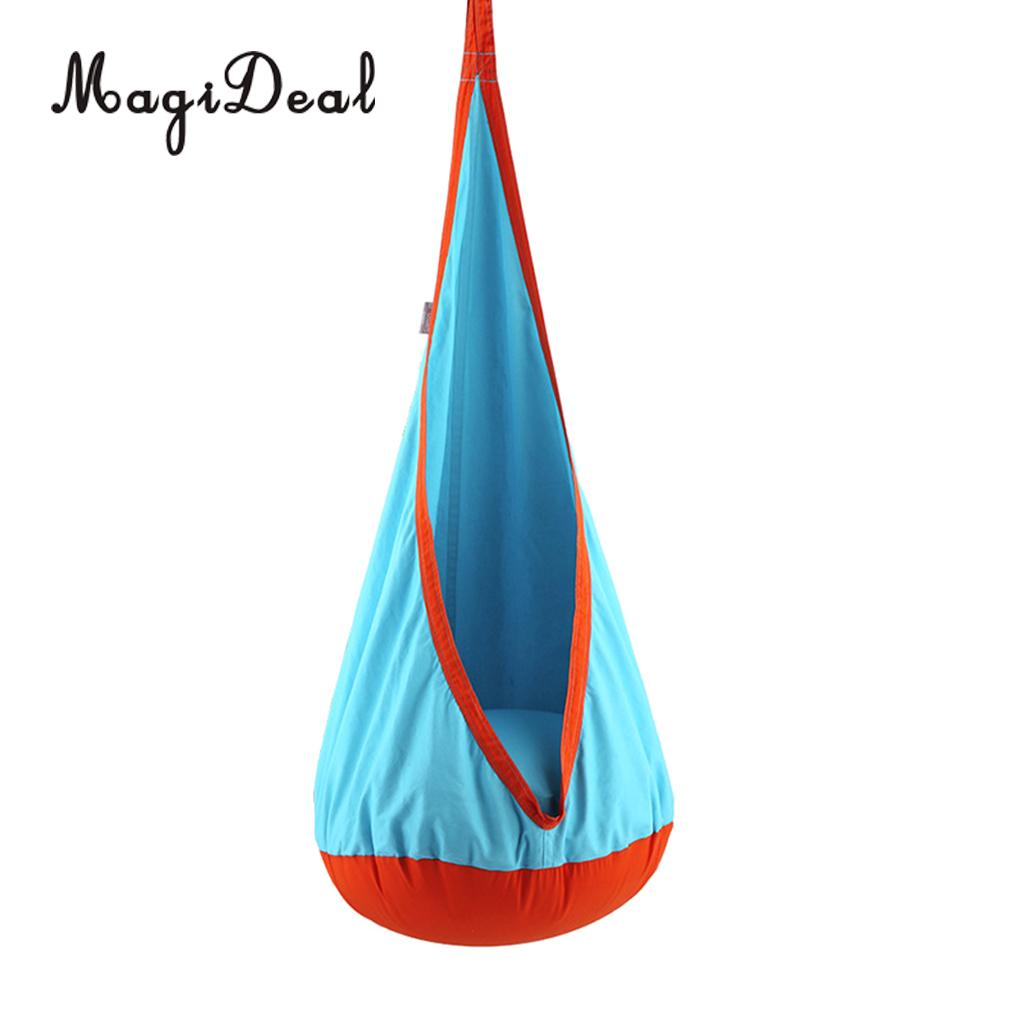 70KG Kids Indoor Outdoor Swing Seat Hanging Hammock Inflatable Cushion Chair Playhouse Toy