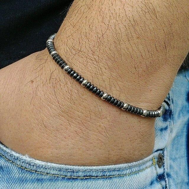 Bracelet En Hématite 6 mm