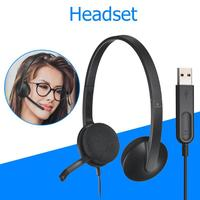 H340 USB Computer Headset 1.8m USB Wired Stereo Gaming Headphone Earphone Built in Noise Canceling Mic For Skype