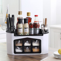 Multi function Kitchen Storage Holder Water Filter Spice Container Cutlery Fork Spoon Organizer Box Cutting Board Drainer Rack