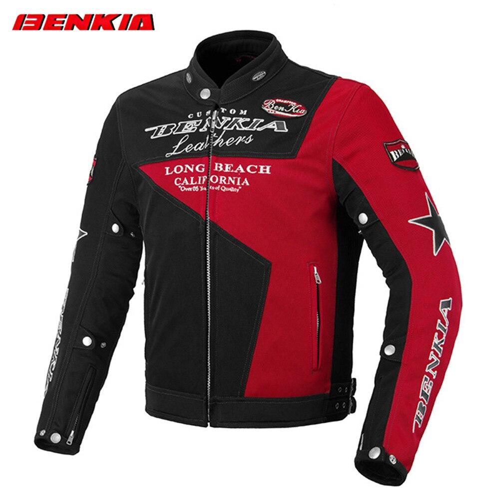 BENKIA JS92 veste de Moto équitation costume de Moto Protection armure corporelle vêtements réfléchissants manteau homme vêtements protecteur hommes vestes