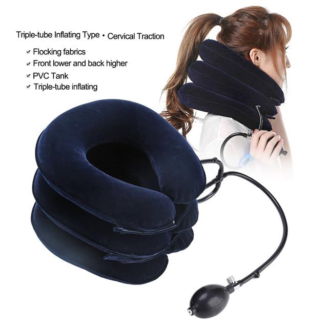 Шеи Тяговая терапия шейного позвонка воротник ортопедические Надувные шеи массажер для головы аксессуары для татуировки