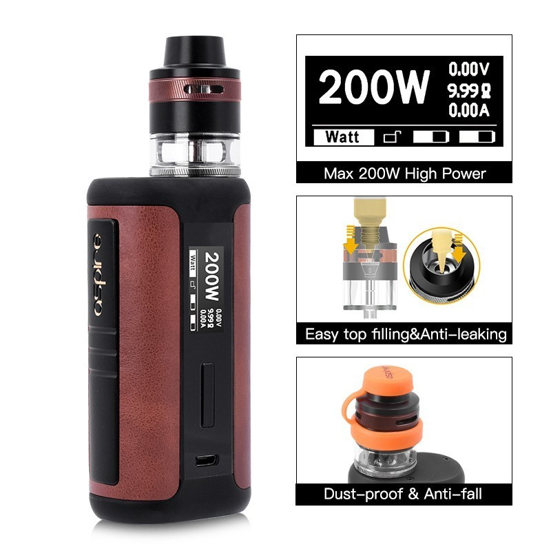 Original Aspire Speeder Revvo Kit med 200 W Leather Speeder Mod og - Elektroniske sigaretter - Bilde 2
