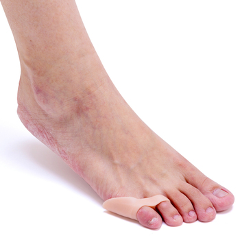 1 Pair Gel Little/Pinky Toe Straightener Separators Bunion Corrector Skin Feet Care Foot Pain Easese