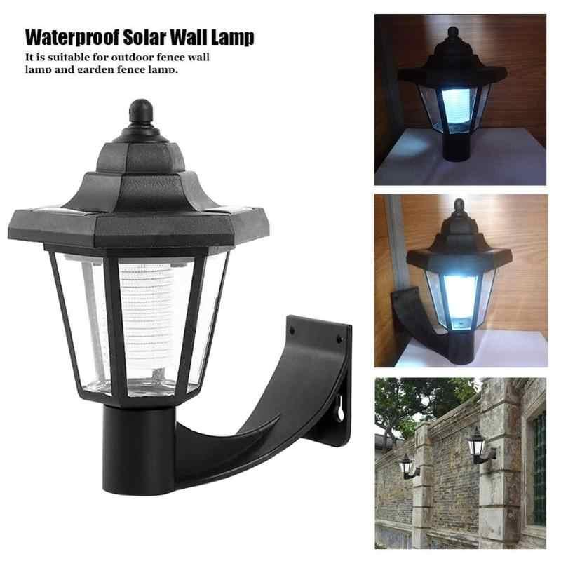 Nueva lámpara LED Solar de pared, luz de lámpara LED de pared para exterior impermeable, luces de jardín, valla de paisaje, luz nocturna Hexagonal
