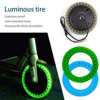 Fluorescent Tire Wheels Honeycomb Shock Absorption Solid Tire For Xiaomi Mijia M365 Electric Scooter Skateboard Front Wheel